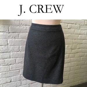 "J. Crew wool-blend Gray ""The Pencil Skirt,"" size 6"
